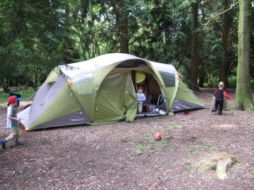 Camping in the forest at Inwood
