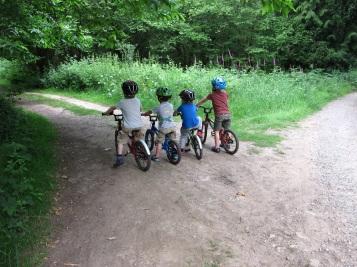 Buddies on bikes