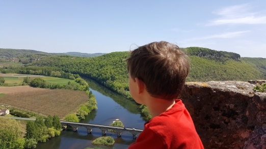 Taking in the stunning view from Les Jardins des Marqueyssac