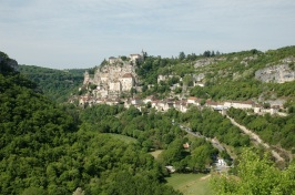 The stunning village of Rocamadour clinging to the cliff